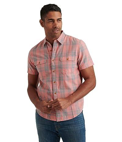 Lucky Brand Short Sleeve Humbolt Work Wear Shirt (Red Plaid) Men