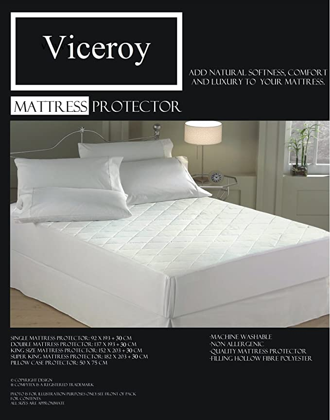 OFFER PRICE Quilted Mattress Protector Topper Extra Deep 30cm Hollowfibre Sizes