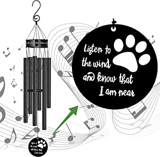MEMGIFT Pet Memorial Wind Chimes Sympathy Gift for Loss of Dog Windchimes Rememberance Decoration...