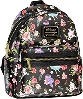 X Alice in Wonderland Character Floral Print Mini-Backpack