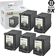 LD Remanufactured Ink Cartridge Replacement for HP C6602A (Black, 5-Pack)