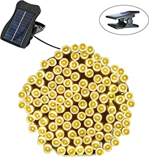 Ricky star Solar String Lights,72FT 200LED Waterproof Solar Led String Lights for Outdoor, Patio, Canopy, Landscape, Fairy Garden, Wedding, Holiday Party, and Xmas Tree (Warm White)