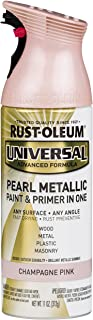 Rust-Oleum 301537 Universal All Surface Spray Paint 11 oz, Pearl Metallic Champagne Pink Mist, Each,