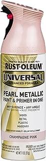 Rust-Oleum 301537 Universal All Surface Spray Paint 11 oz, Pearl Metallic Champagne Pink Mist