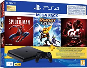 PS4 1TB Slim Bundled with Spider-Man, GTaSport, Ratchet & Clank And PSN 3Month