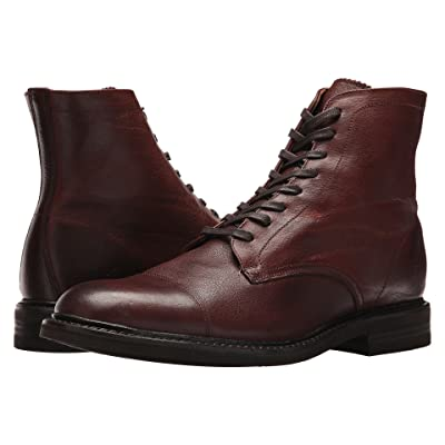 Frye Seth Cap Toe Lace-Up (Brown Oiled Pull Up) Men