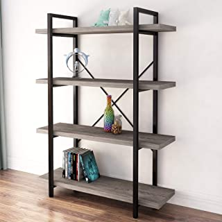 45MinST 4-Tier Vintage Industrial Style Bookcase/Metal...