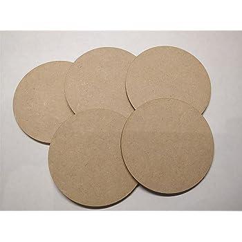 Pack de 25 círculos de madera de 10 cm para manualidades: Amazon ...