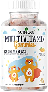 Nutrazee Complete Multivitamin Vegetarian Gummies for Kids, Teenagers, Men, Women, Adults With Essential Vitamins For Growth, Development & Immunity, 45 Gummy Bears