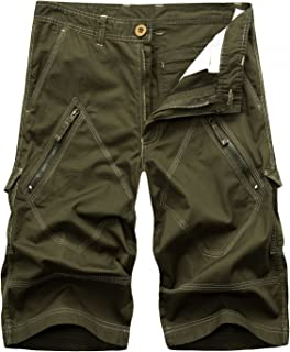 60d8038273 AYG Mens Cargo Shorts Casual Sports Shorts Cotton Solid Camo shorts 29-40