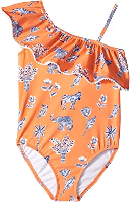 Ruffle One-Piece Swimsuit (Toddler/Little Kids/Big Kids)