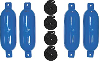 """Extreme Max Standard 3006.7495 BoatTector Fender Validable Fender 4-Pack-6.5 """"x 22""""، آبی"""