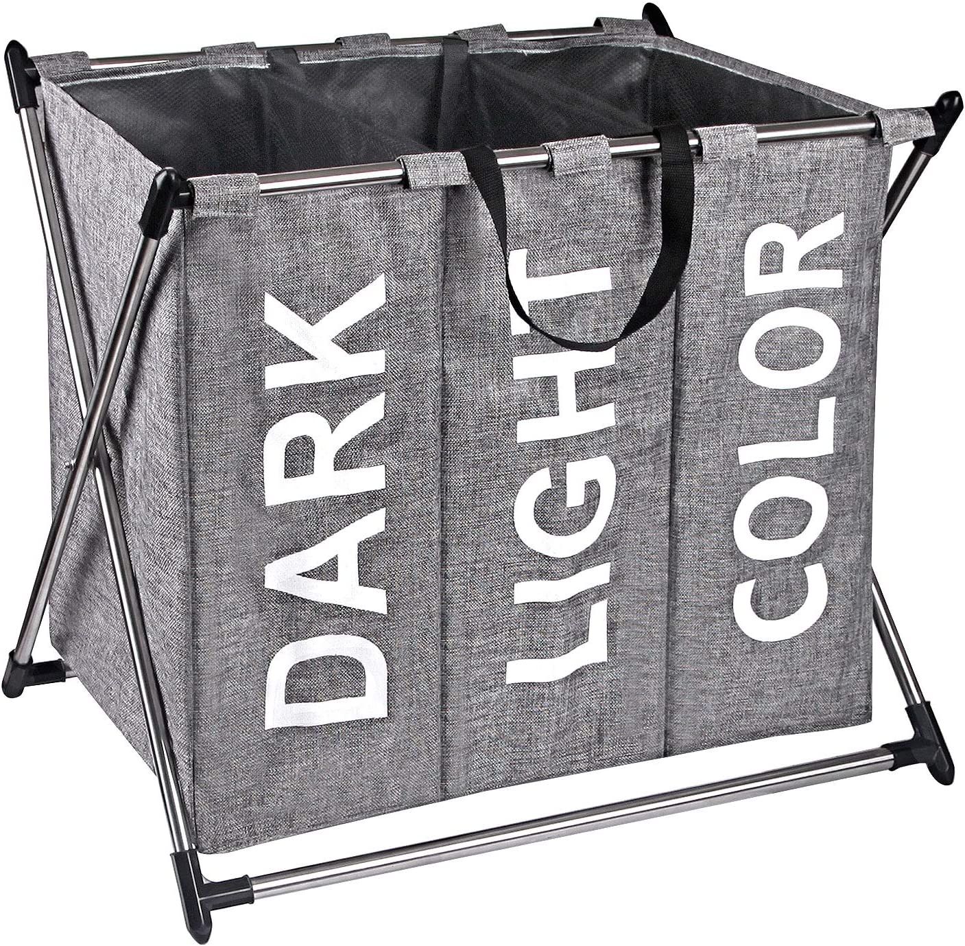 X-cosrack 40% OFF Cheap Max 57% OFF Sale Laundry Hamper Sorter - Steel Basket X-Frame Stainless