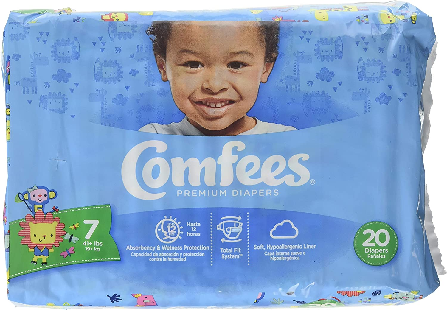 Attends® Comfees® Premium Popularity Baby Diapers 7 of 80 lowest price Case Size