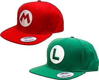 ASVP Shop - Rot Super Mario und Grün Luigi Snapback Baseballkappe