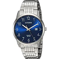Citizen Men's Stainless Steel Watch with Blue Dial