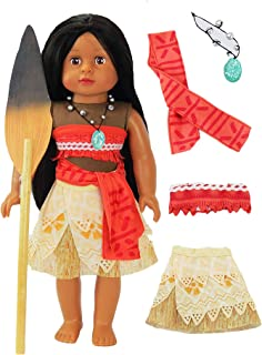 Moana Inspired Outfit with Wooden Paddle | Fits 18