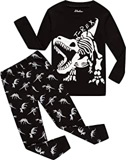 Children Pajamas Boys Glow in Dark Dinosaur Pj Cotton...
