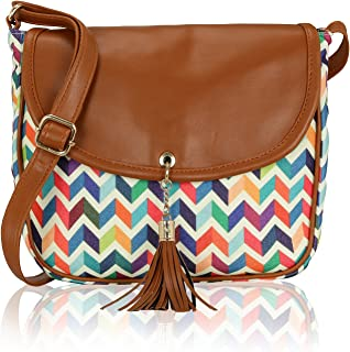 Kleio Retro Canvas Crossbody Bags For Women Cell Phone Wallet Purse Shoulder Bag With Tassel And Folded Flap