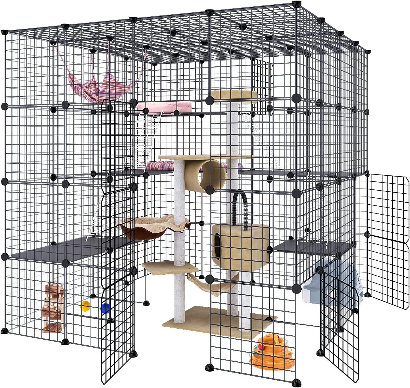 Eiiel Large service Cat New life Cage Indoor Metal Detachable Wir DIY Playpen