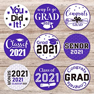 Outus 500 Pieces 2021 Graduation Decorations Large Congrats Label Stickers Class of 2021 Party Supplies for High School, C...
