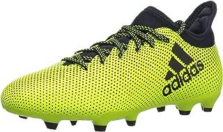 Boys' X 17.3 FG J Soccer Shoe, Black/Solar Red/Solar Orange, 12 Medium US Little Kid