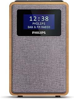 "Philips R5005/10 Klokradio, DAB+ Radio (2,5"" Luidsprekerdriver, Prachtig Design, DAB+/FM-Radio, Duidelijke Zwartglanzende ..."