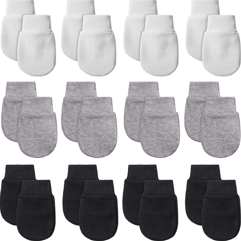 12 Pairs Newborn Baby Mittens Infant Toddler Gloves No Scratch Mittens Gloves for 0-6 Months Baby Boys Girls