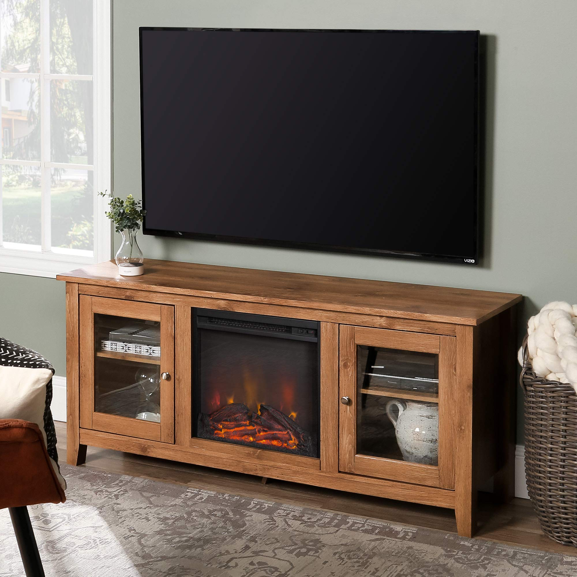WE Furniture Media Console Fireplace