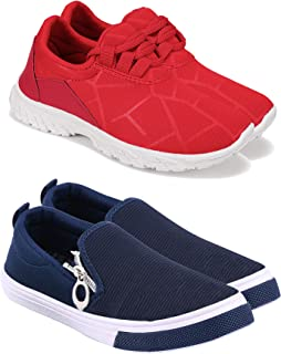 Camfoot Kids & Boys (9062-9294) Multicolor Casual Stylish Sports Shoes (Set of 2 Pair)