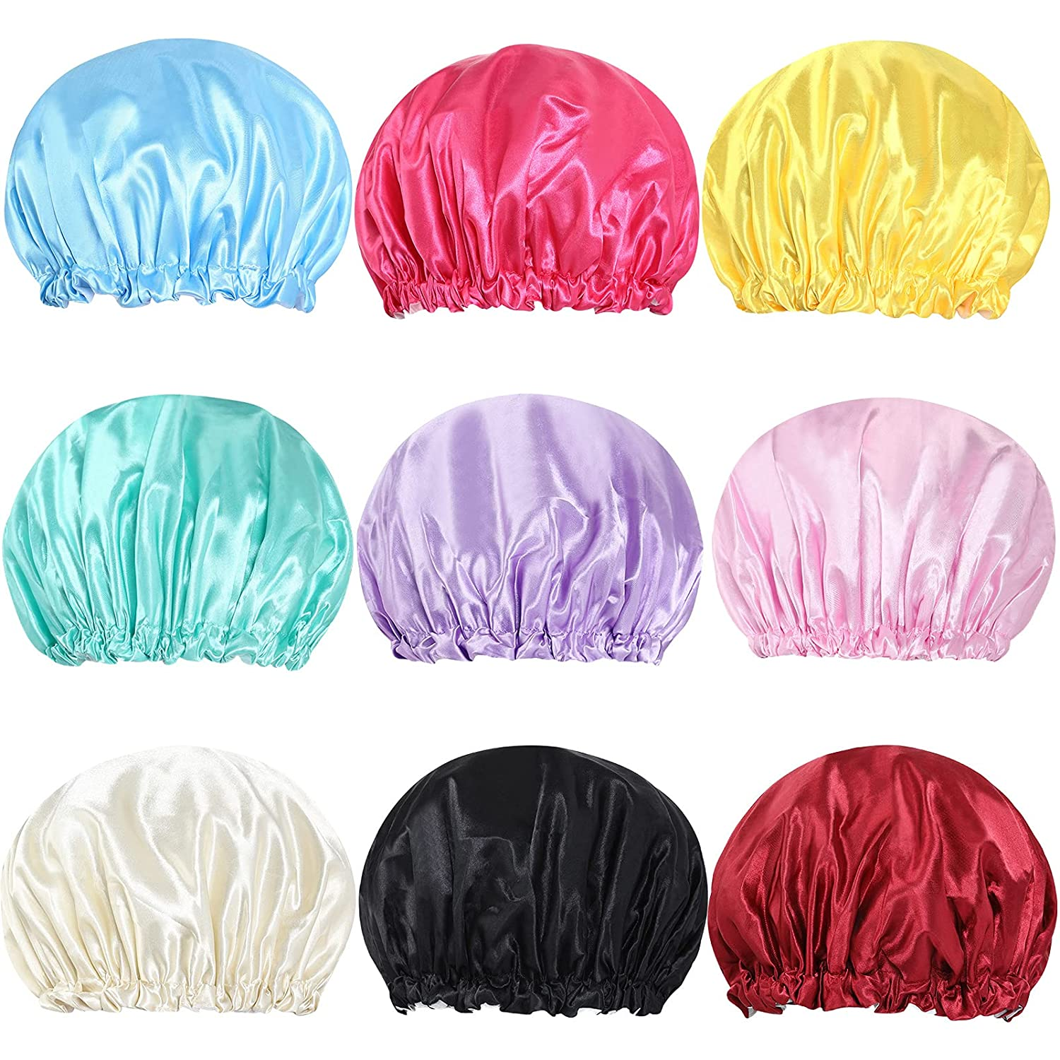 9 Pack Shower Caps Direct store Bath half for Waterproof Layers Double Women