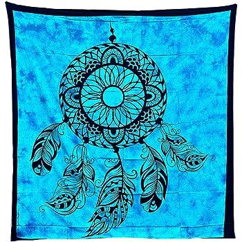 Tapiz Mandala 100% Algodón de la India con 210X240 cm Tapices Indios de Decoración Múltiples Aplicaciones: Cubrecama, Cubre sofá, Mantel, Pareo, Foulard, Picnic, Toalla Playa AtrapaSueños: Amazon.es: Hogar