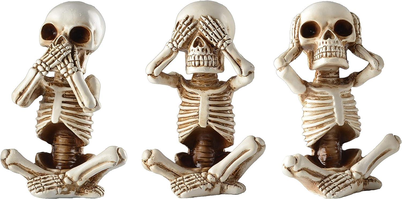 JORAE Skeletons Statue Hear See Speak Halloween No Arlington Mall Baby Evil Fig Year-end gift