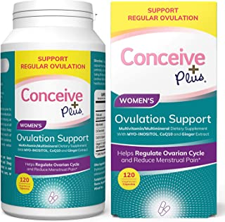 Sponsored Ad - Conceive Plus Ovulation Support PCOS Supplements - Myo Inositol, Folate, CoQ10, Ginger Extract - More Balan...