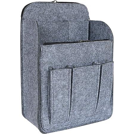 HyFanStr Filz Rucksack Organizer mit Reißverschlusstasche, Handtaschen Organizer Taschenorganizer für Rucksack Groß Grau