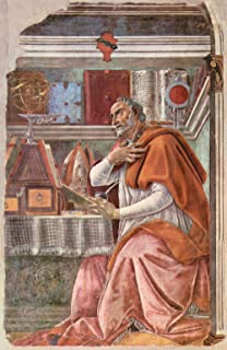 The Museum Outlet - St. Augustine in prayer by Botticelli - Poster (24 x 18 Inch)