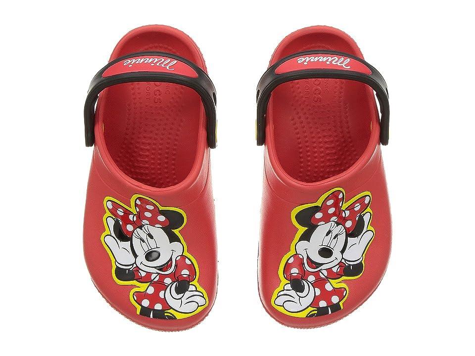 Crocs Kids FunLab Minnie Clog (Toddler/Little Kid) (Flame) Girls Shoes