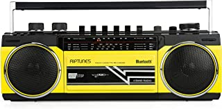 Riptunes Cassette Boombox, Retro Blueooth Boombox, Cassette Player and Recorder, AM/FM/ SW-1-SW2 Radio-4-Band Radio, USB, ...