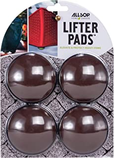 Allsop Home and Garden Lifter Pads, Protect Floors, Decks and Patios with 3,000 lbs Rating, Discreet Non-Skid pad Lifters/risers/feet/Toes, (Cocoa, Set of Four, 1-Count)