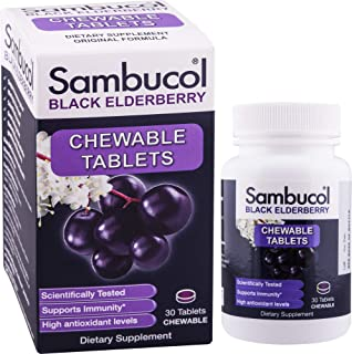 Sambucol Black Elderberry Original Formula, 30 Chewable Tablets