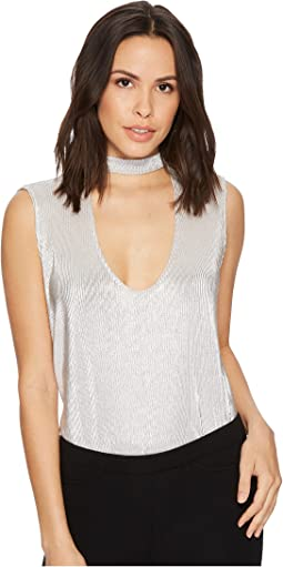 BB Dakota - Bellows Metallic Mock Neck Top