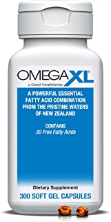 OmegaXL 300 Softgels - Green Lipped Mussel New Zealand, Omega 3 Natural Joint Pain Relief & Inflammation Su...