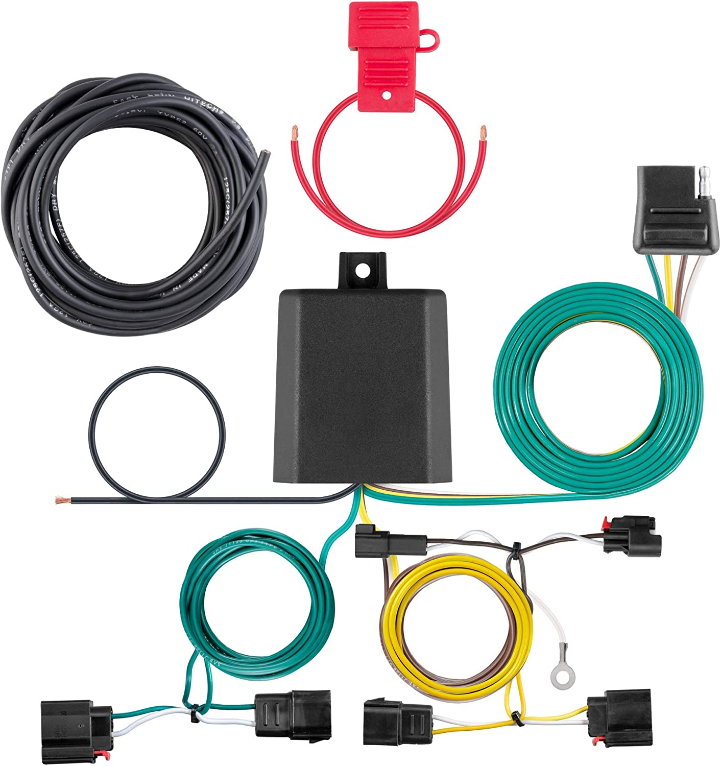 CURT 56426 Vehicle-Side Custom 4-Pin Trailer Wiring Harness, Fit