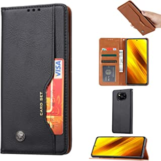 for Xiaomi Poco X3 NFC Knead Skin Texture Horizontal Flip Leather Case with Photo Frame & Holder & Card Slots & Wallet & D...