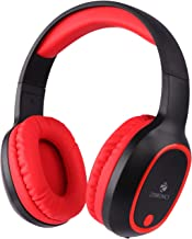 Zebronics Zeb Thunder Wireless BT Headphone Comes With 40Mm Drivers AUX Connectivity Built In FM Call Function 9Hrs Playback Time And Supports Micro SD Card Red