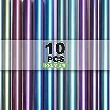 """CAREGY Chameleon Heat Transfer Vinyl Iron on Vinyl htv 12""""×12"""" 10packs Gradient Change Color HTV for t-Shirt."""