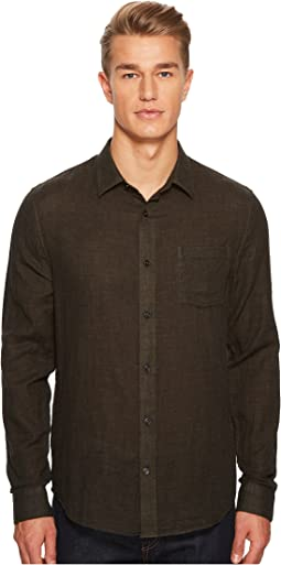 Double Face Long Sleeve Button Down