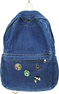 حقيبة ظهر Denim جينز ، حقائب يومية كلاسيكية كلاسيكية كلاسيكية ، كتب كاجوال للنساء