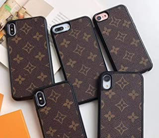 Monogram Style Shockproof Slim Full Body Protective TPU x PU Leather Case for Apple iPhone (Monogram, iPhone11)