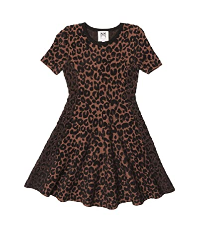 Milly Minis Textured Cheetah Flare Dress (Big Kids) Girl